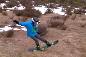 Snowboard practise at Mt Buffalo