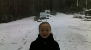 Snow run at Mt Stirling
