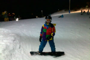 Nighttime Snowboarding at Mt Hotham
